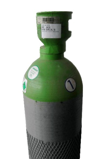 BOTELLA GAS PRAXAIR LABORATORIOS AIRE 3X
