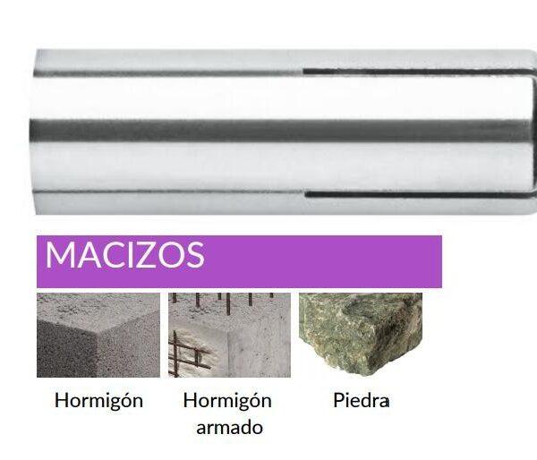 TACO ANCLAJE METÁLICO HEMBRA FIJACIÓN UNIVERSAL HENO